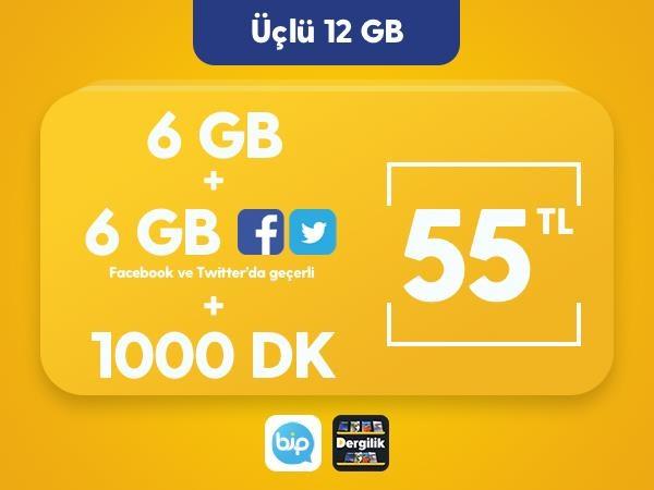 Üçlü 12 GB Paketi