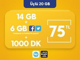 Üçlü 20 GB Paketi