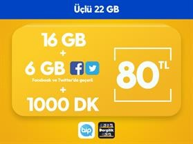 Üçlü 22 GB Paketi