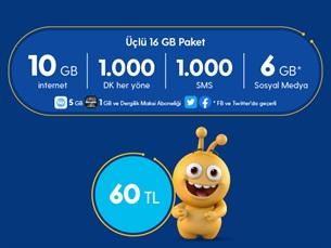 Satın Al Üçlü 16 GB Paketi