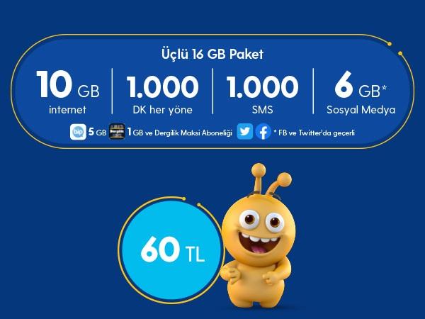 Üçlü 16 GB Paketi