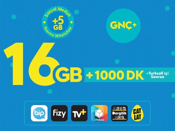 GNÇ+ 16GB
