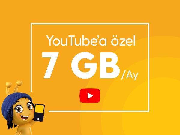 Youtube 7 GB Paketi
