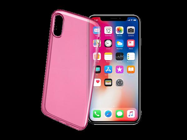 Cellular Line iPhone X Renkli İnce Şeffaf Kılıf