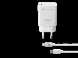 Cellularline PD 18W USB-C / Lightning Şarj Cihazı