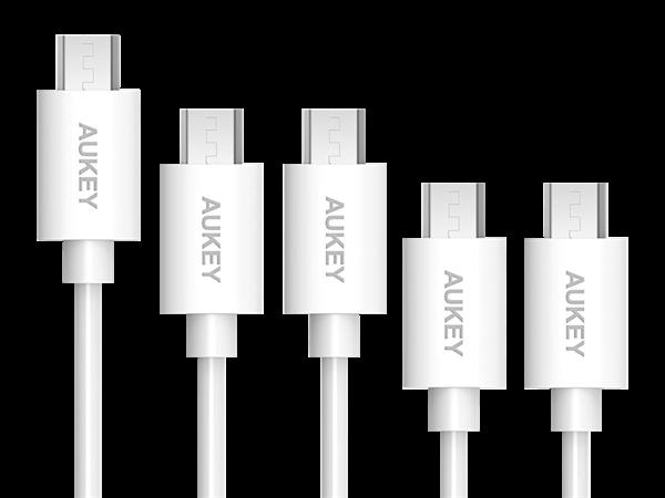 Aukey Micro USB Şarj ve Data Kablosu (5'li Paket)