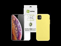 Bikapak 2'si 1 Arada iPhone 11 Elit Sense Kılıf ve Ekran Koruyucu Paketi