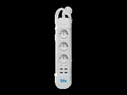 Bix BP01 4 USB 3 Fiş Çıkışlı Akım Korumalı Akıllı Priz