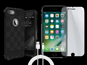 Buff iPhone 7/8 Black Armor Koruma Üçlü Set 1