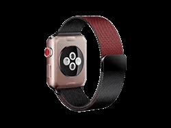 E2M Apple Watch 38-40 mm KRD-02 Çift Renkli Metal Hasır Kordon