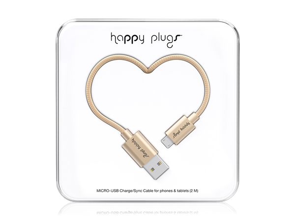 Happy Plugs Deluxe Micro USB Data ve Şarj Kablosu