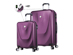 My Valice Smart Bag Energy USB Şarj Girişli 2'li Valiz Seti (Kabin ve Büyük)