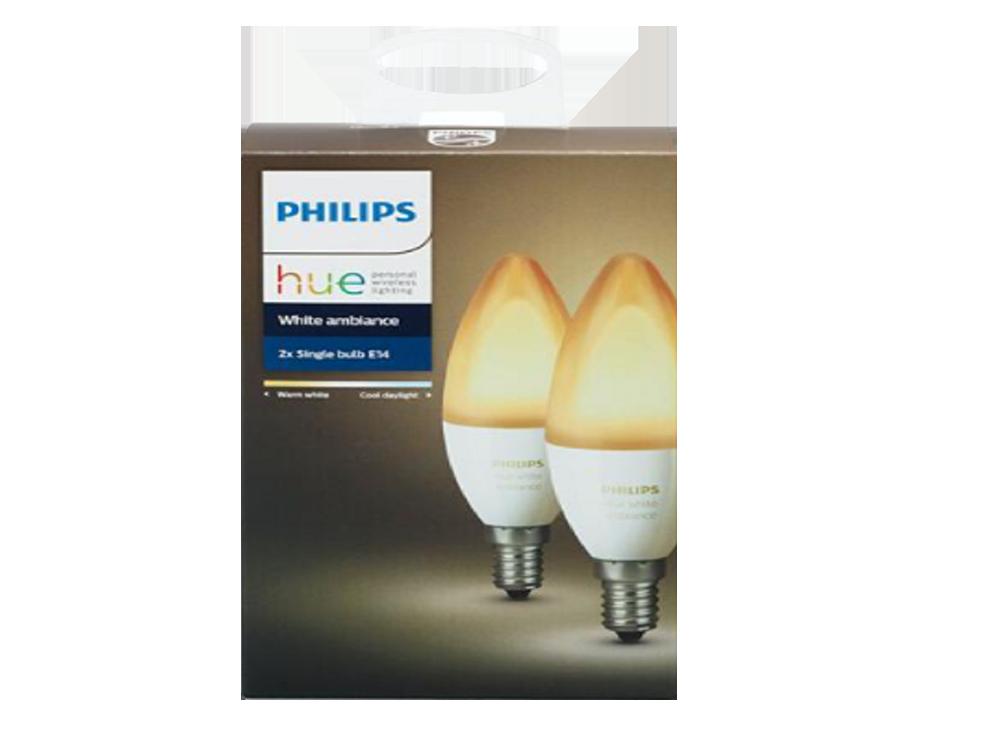 Philips Hue Beyaz Ambiyans Akıllı Ampul 2'li Eko Paket E14