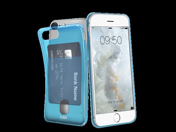 SBS iPhone 7 Kart Bölmeli Silikon Kılıf