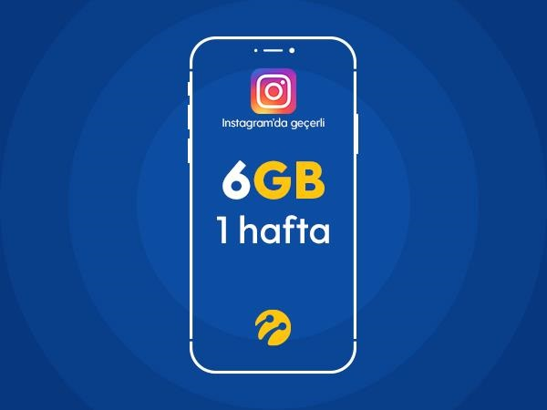 Instagram Paketi 6GB
