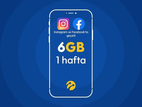 Sosyal Paylaşım Paketi 6GB