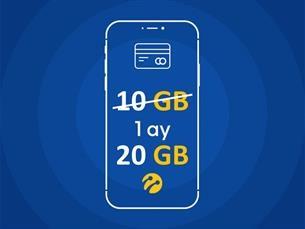 Satın Al İşte Benim Aylık 10 GB+10 GB Hediyeli!