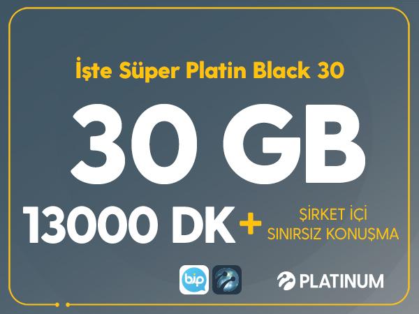 İşte Süper Platin Black 30