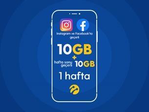 Satın Al Instagram&Facebook Paketi 10GB+10 GB Hafta Sonu Hediyeli