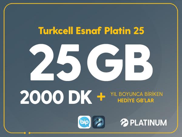 Turkcell Esnaf Platin 25
