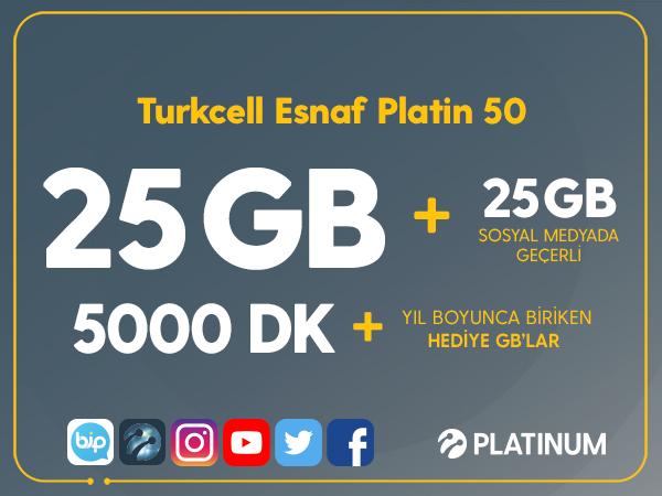 Turkcell Esnaf Platin 50