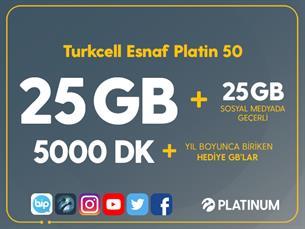 Satın Al Turkcell Esnaf Platin 50