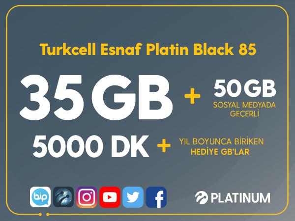 Turkcell Esnaf Platin Black 85