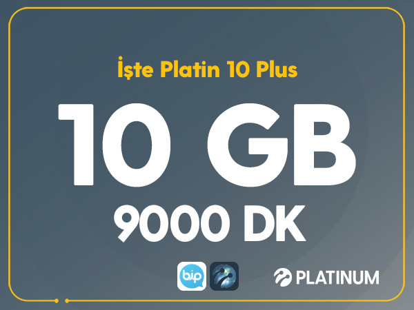 İşte Platin 10 Plus